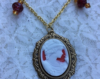 The Fair Rose Valentine's Day Cameo Necklace