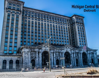 Detroit Michigan Central Station Postcard
