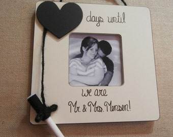 Personalized engagement frame- Unique engagement gifts- Wedding countdown