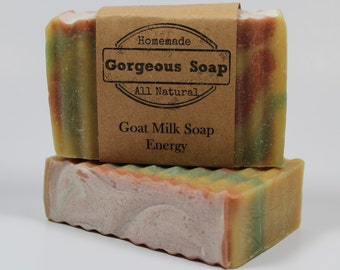 Energy Goat Milk Soap - All Natural Soap, Handmade Soap, Homemade Soap, Handcrafted Soap