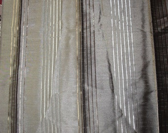 NEW Striped 100% Polyester Upholstery Fabric Textile Home Decor 65 x 46 cm Brown Sewing Art&Craft Needlecraft Supplies