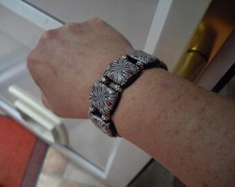 Coloured clay bracelet