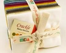 SALE Moda Crackle Fabric, Fat Quarter Bundle, 5746AB, 20 Fat Quarters designed by Kathy Schmitz, Coordinated Quilt Fabric Bundle, AB Bundle