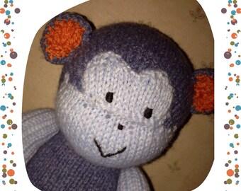 Soft Hand Knit Monkey