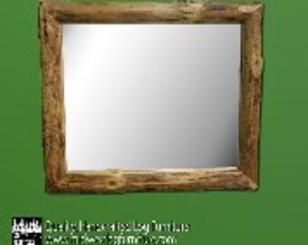 Rustic Log Mirror