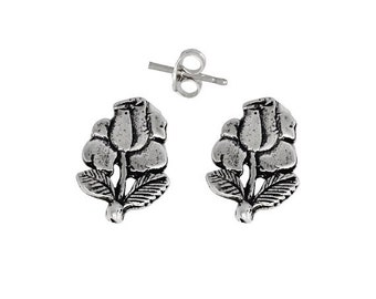 ON SALE Sterling Silver .925 Flower Pin Earring | Made in USA