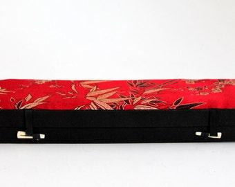 Japanese Storage Box, Chop Sticks Holder, Oriental Trinket Box, Jewelry Chest