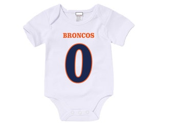 Custom Broncos Onesies / T-shirts with custom name and number,
