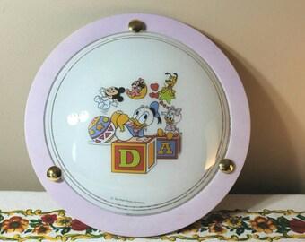 Vintage Disney Light Fixture, Nursery Dome Light Shade