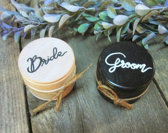 Bride and groom ring boxes, mr and mrs ring boxes, custom ring boxes, wooden ring box, wedding ring box, wedding ring holder, rustic wedding