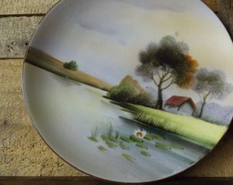 Small Nippon/hand painted plate