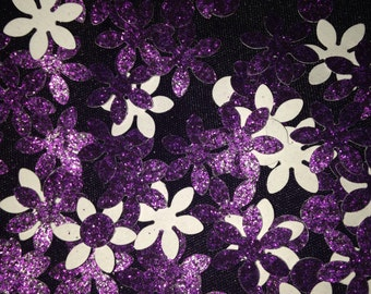 Purple flower confetti