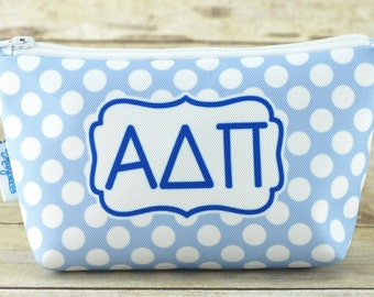 Alpha Delta Pi | ADPi | AΔΠ | Sorority Make Up Bag