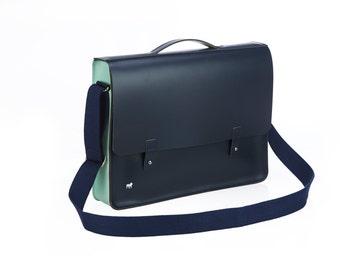 On sale!! Bigbury Leather Laptop Bag / Book Bag
