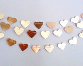 GOLD HEART GARLAND - wedding gold heart bunting  gold heart garland gold bunting gold garland gold garland anniversary golden hearts wedding