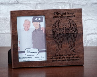 5x7 - Personalized Guardian Angel Picture Frame, My Guardian Angel, Memorial Frame, Those who we have lost, In loving memory