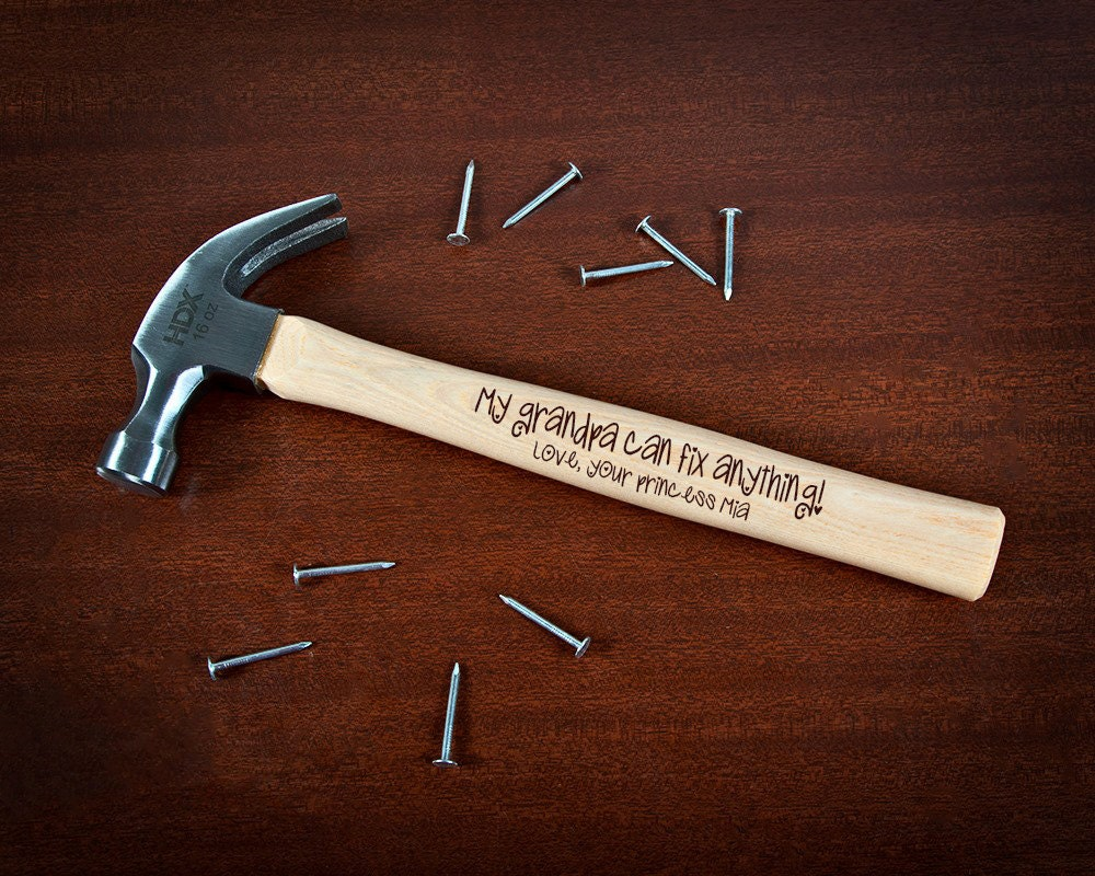 engraved hammer personalized hammer my grandpa can fix. Black Bedroom Furniture Sets. Home Design Ideas