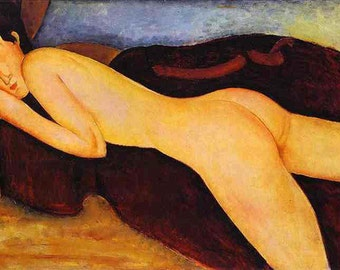 high quality Nu Couche de Dos - Amedeo Modigliani hand-painted oil painting reproduction for bedroom decor wall art or gift