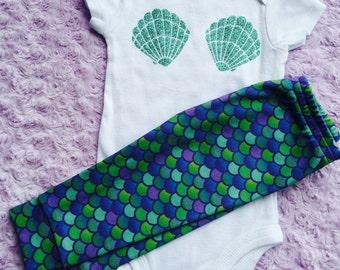 Mermaid. Baby mermaid. Mermaid baby. Baby mermaid outfit. Baby shower gift. Little sister. Baby girl.