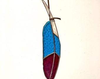 Atsos Stained Glass Feather