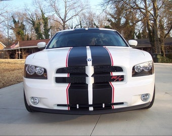 "All Year Dodge Charger 2 COLOR  10"" Rally Stripe Stripes graphics set"