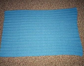 New!! Handmade Baby Boy Afghan - Bluebell Color - FREE SHIPPING!!