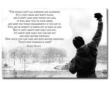 Rocky Balboa - Motivational Quotes Art Silk Poster 13x20 24x36 inches