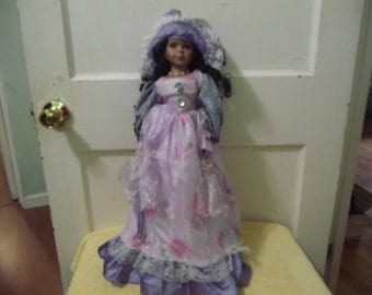 Victorian Style Porcelain Doll (African American)