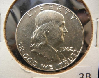 Uncirculated 1962 Franklin Silver Half Dollar