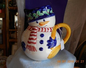 Snowman Pitcher From Bloomingdales's