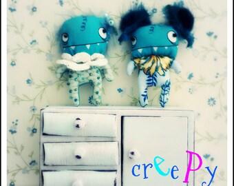 Vintage cabinet for dolls 1:10