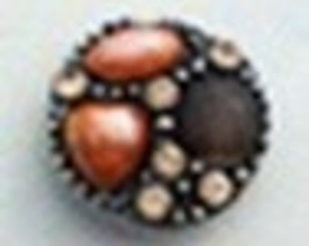 20MM Pearl and Gem Snap Button