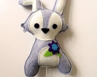 music box bunny (grey)