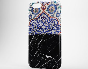 Black Marble iPhone 8 Case iPhone X Case Moroccan Phone Cover iPhone 7 Plus iPhone 6 Case iPhone 7 iPhone SE Case iPhone 5 Galaxy S7 S8 Case