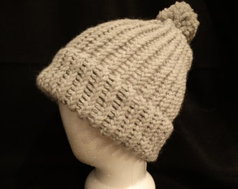 Knit Hat -  1 Shade of Gray
