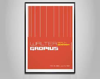 Archiposter tribute - Walter Gropius - Poster
