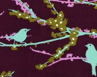Joel Dewberry's Aviary Plum Bird Fabric by Free Spirit