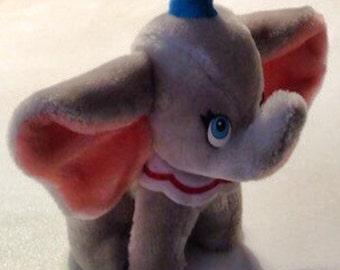 Vintage Walt Disney Dumbo Stuffed Plush Elephant 1980's