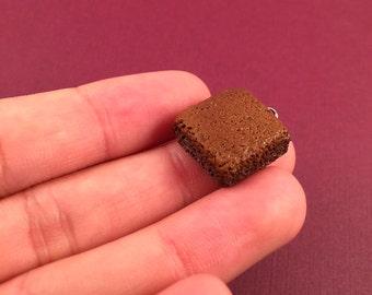 Brownie Charm, Miniature Food Jewelry