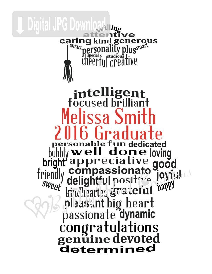 Graduation word art | Personalized word art, How to pass ...  |Word Art For Graduation