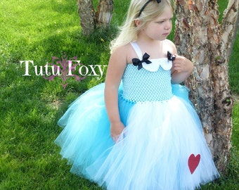 Alice in Wonderland Tutu Dress, Alice Tutu Dress, Alice in Wonderland Dress, Alice in Wonderland Costume, Alice in Wonderland Tutu