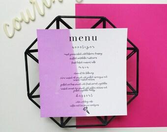 Printable Customizable Watercolor Wedding/Event Menu   PDF Printable Menu