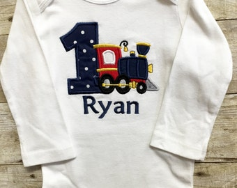 Boy First Birthday Outfit, 1st Birthday Boy Outfit, Train Shirt, 1st Birthday Bodysuit, Boy Birthday Bodysuit, 1st Birthday Bodysuit, Train
