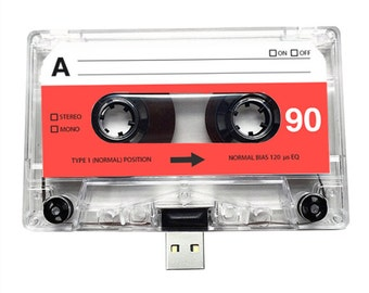 4GB/8GB/16GB USB Mixtape - Retro Personalised Gift - Partner, Birthday, Christmas Present- Boyfriend, Girlfriend, Bestfriend- Flash Drive