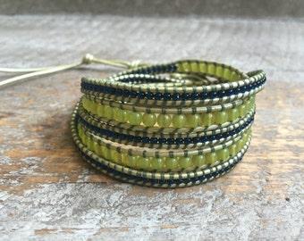Bridget Beaded Wrap Bracelet
