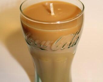 Vanilla Scented Coke Glass Candle - Smells Delicious!