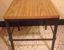 Side table foot black Plateau Formica year 70 Metal Coffee Table