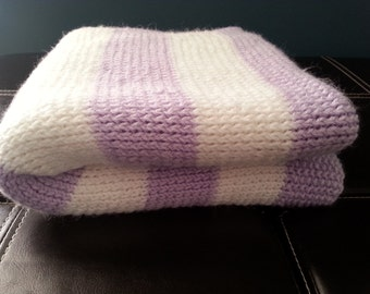 Amethyst Knitted Baby Blanket