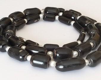 """Vintage genuine black coral necklace 24"""""""