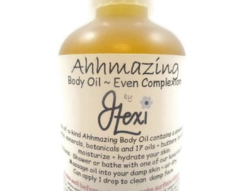 Ahhmazing Body Oil ~ Even Complexion, massage oil, body oil, moisturizing body oil, herbal body oil, complexion body oil, blemish body oil